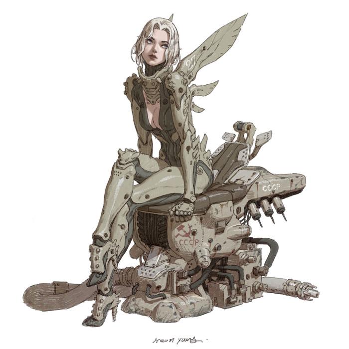 Стальной ангел Арт, Девушки