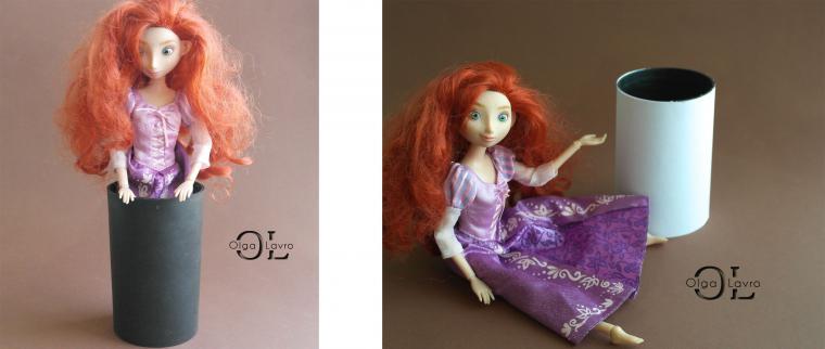 Делаем красивый дом и мебель для кукол Барби, фото № 22