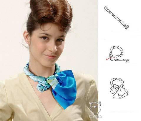 아름답게 스카프를 묶는 28 가지 방법, 사진 № 23