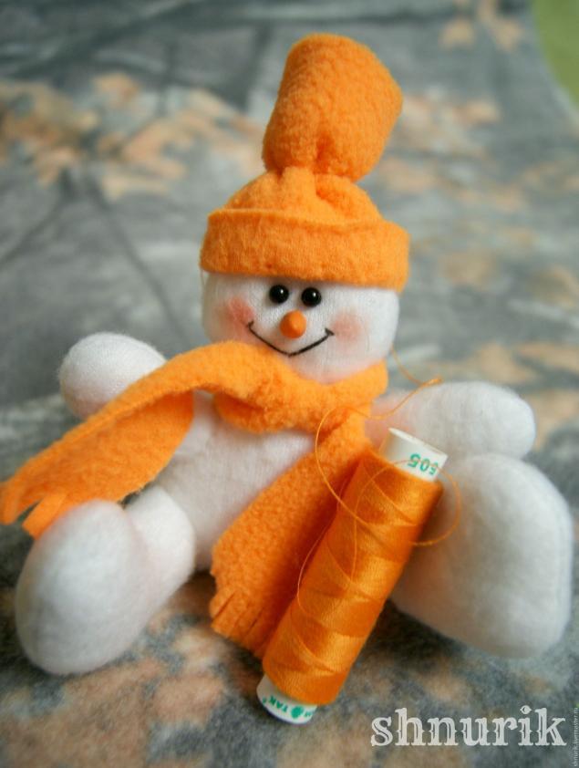 Снеговик в шапочке. Мастер-класс., фото № 26