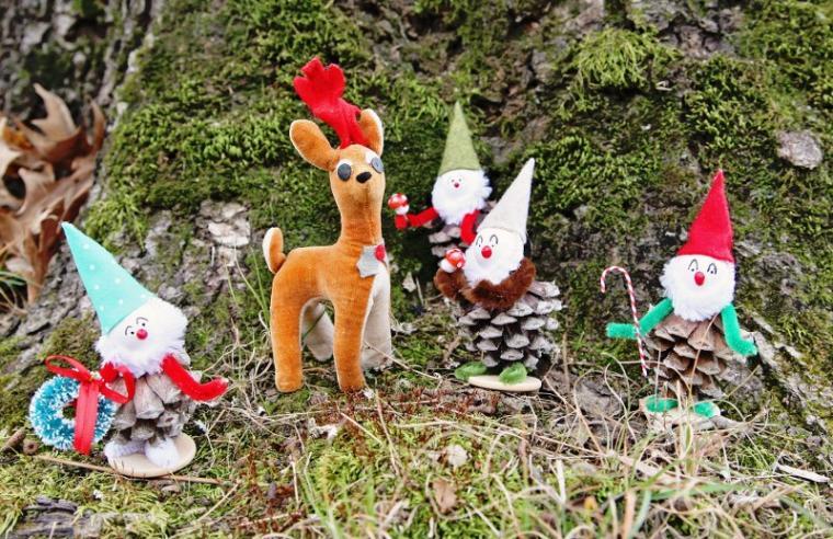 Жаңа жылдық ойыншықтар балалармен, сурет № 37