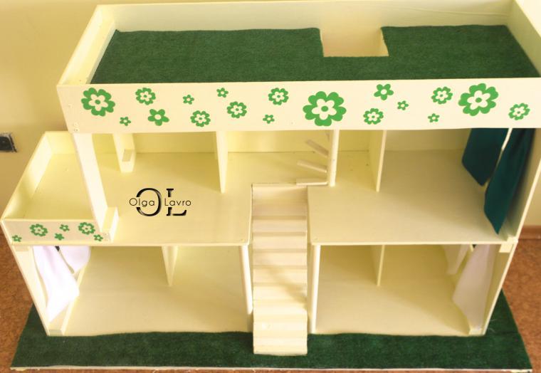 Делаем красивый дом и мебель для кукол Барби, фото № 6