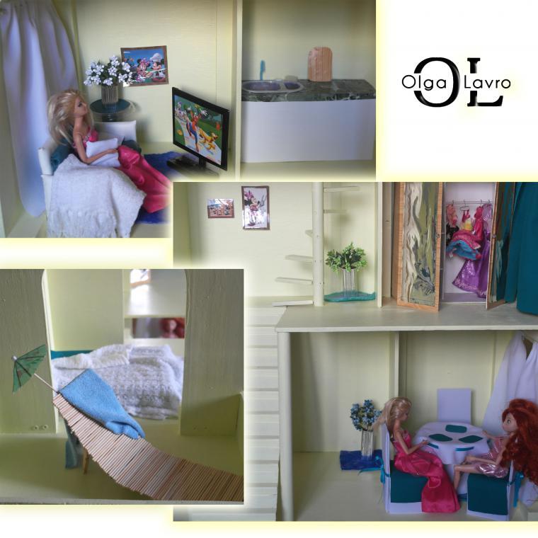 Делаем красивый дом и мебель для кукол Барби, фото № 49