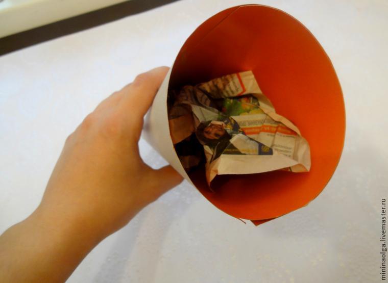 Pomul de Crăciun de Anul Nou din șervețele de hârtie cu mâinile tale, Foto № 1