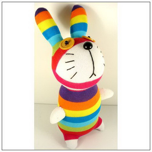 Забавные мягкие игрушки из носков, фото № 26