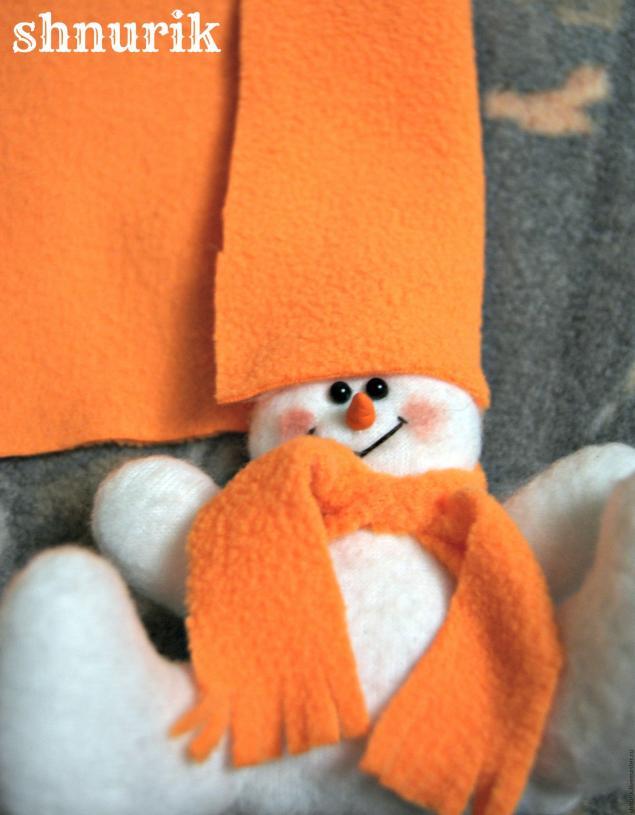 Снеговик в шапочке. Мастер-класс., фото № 20