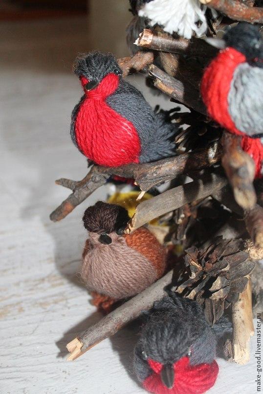 Dominio con hijos de pájaros fragantes de hilo para interior, foto № 1