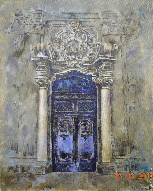 Oil Painting Old Castle Door Shop Online On Livemaster