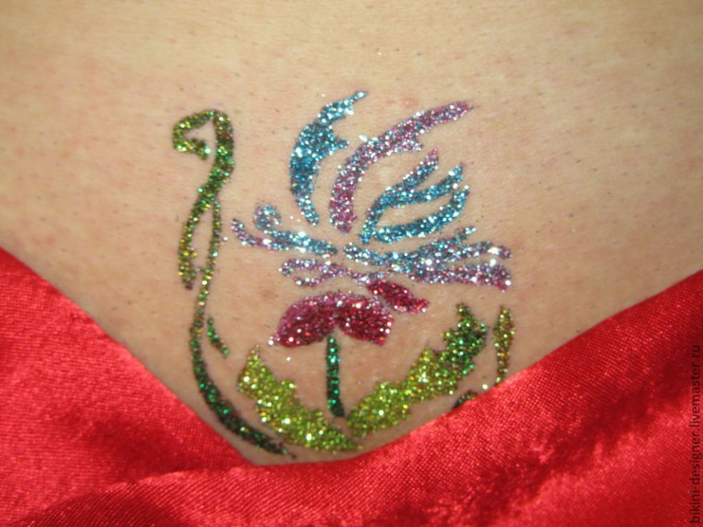 Glitter Tattoo блеск тату бикини дизайн