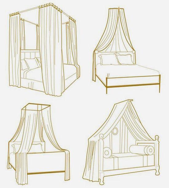 Enkla idéer för baldakiner i sovrummet och inte bara foto nummer 2