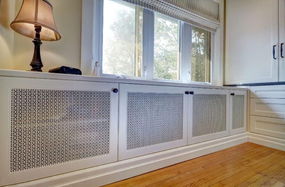 """Isıtma pillerini dekore etmek için 45 fikir ya da ev ısıtma evlerinin radyatörlerini nasıl """"kanıtı"""", böylece mısırlı gözler, fotoğraf № 14"""