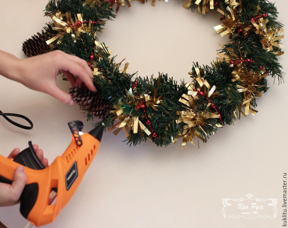 Создаем рождественский венок, фото № 18