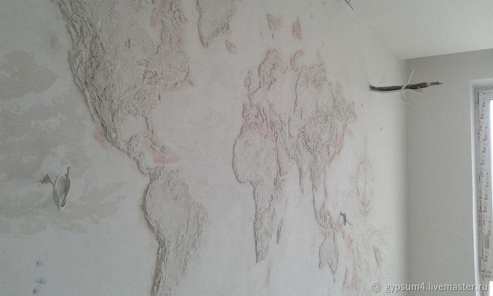 Изготавливаем барельеф «Карта», фото № 13