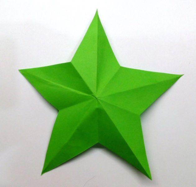 Odřízněte z papíru Právě pětičlenná hvězda, fotografie číslo 7