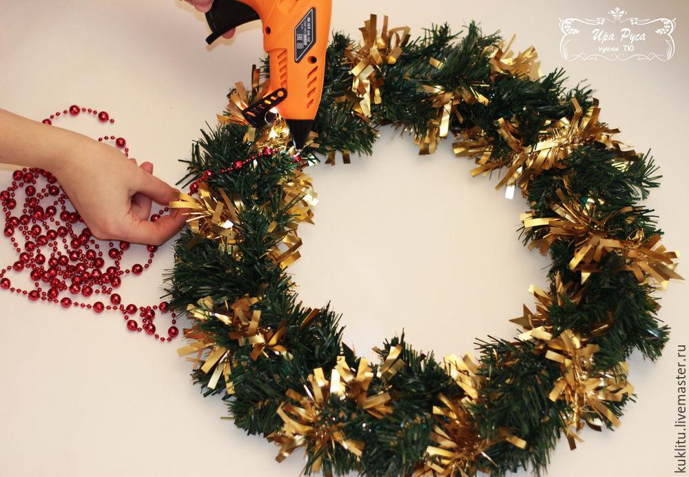 Создаем рождественский венок, фото № 14