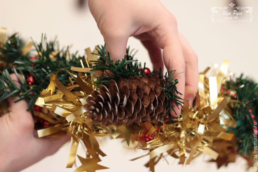 Создаем рождественский венок, фото № 19