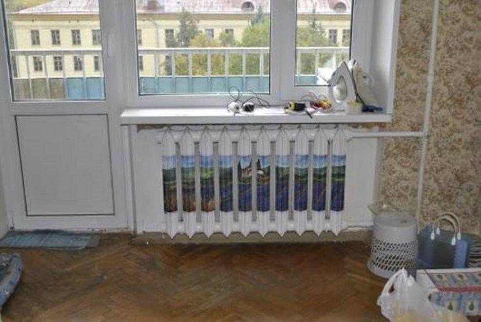 """Isıtma pillerini dekore etmek için 45 fikir veya evde ısıtma radyatörlerini nasıl """"kanıtı"""", böylece mısırlı gözler, fotoğraf № 23"""