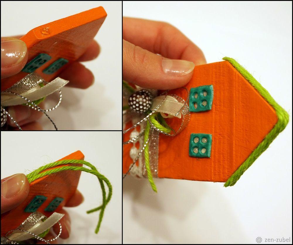 Создаём новогодние игрушки-подвески «Домики», фото № 43