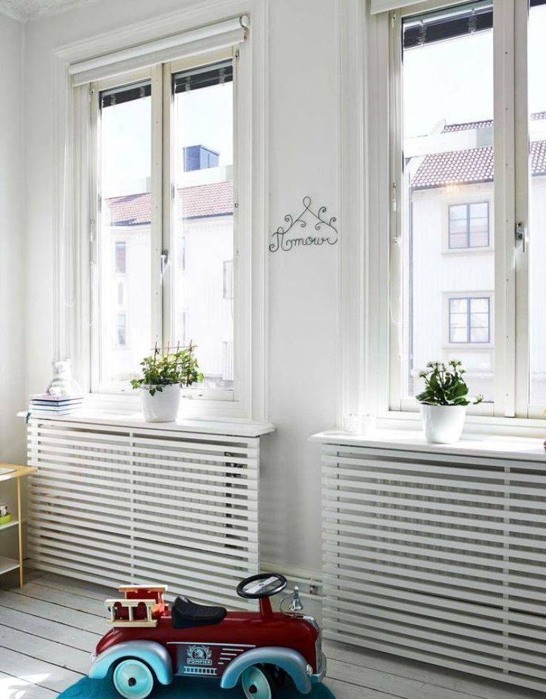Isıtma pillerini dekore etmek için 45 Fikir veya evde ısıtma radyatörlerini nasır gözler, böylece mısırlı gözler, fotoğraf numarası 5