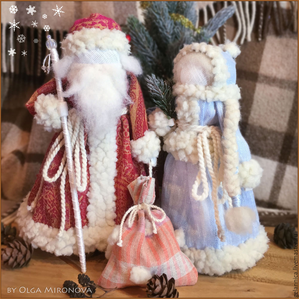 Master Class Santa Claus at Snow Maiden batay sa folk dolls, larawan № 47