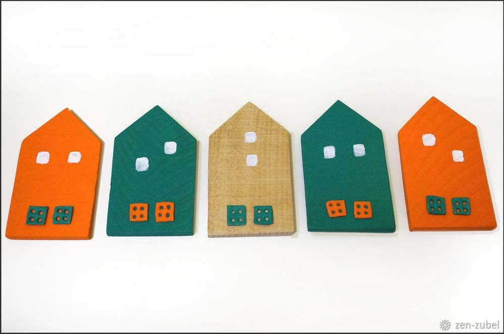 Создаём новогодние игрушки-подвески «Домики», фото № 23