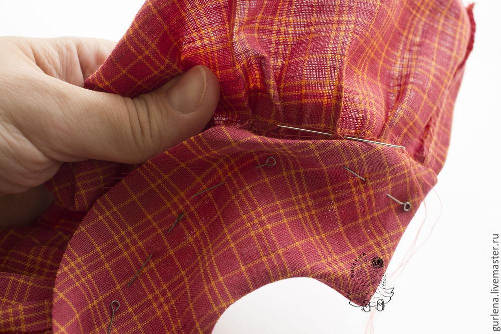 Textilpuppe von der Krone zu Fersen, Foto № 25