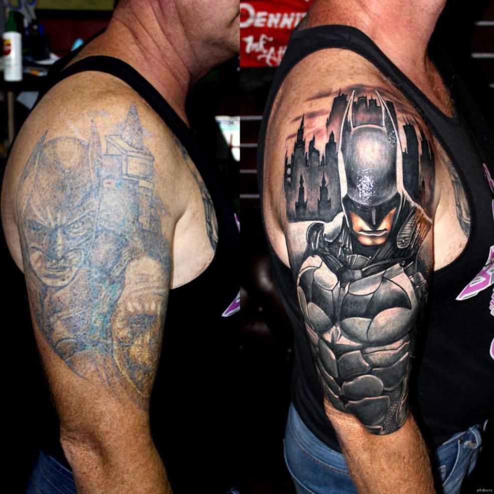 качественно перебитая татуировка