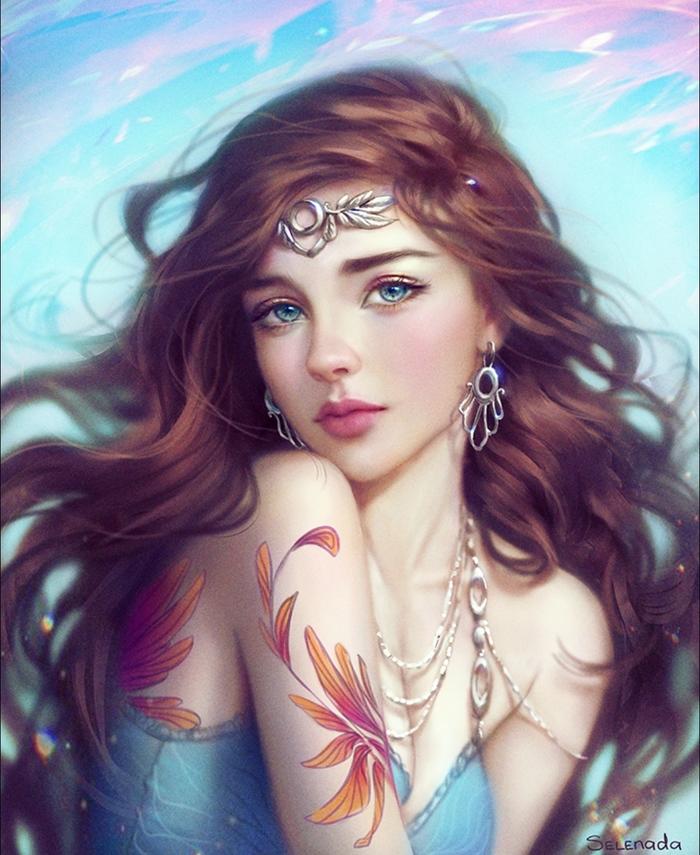 Mystery Арт, Selenada, Красивая девушка