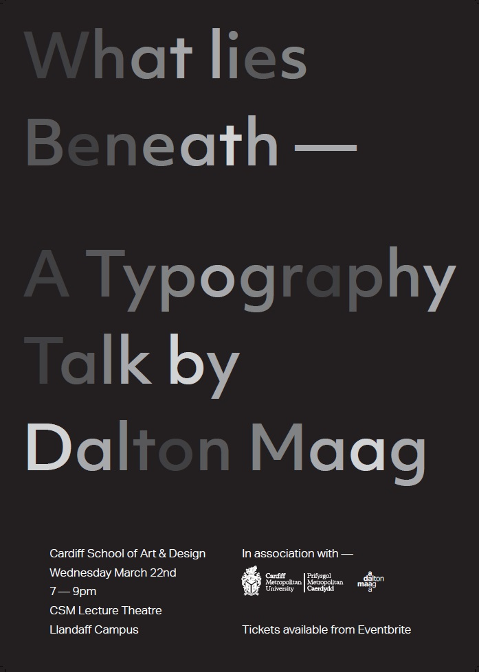 A poster for Typography Talk by Dalton Maag