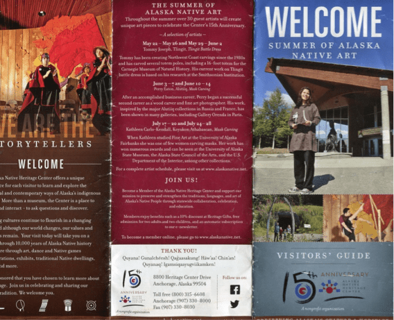 14a046c2782ba Figure 4  Front cover and back cover of Alaska Native Heritage Center  Visitors  Guide