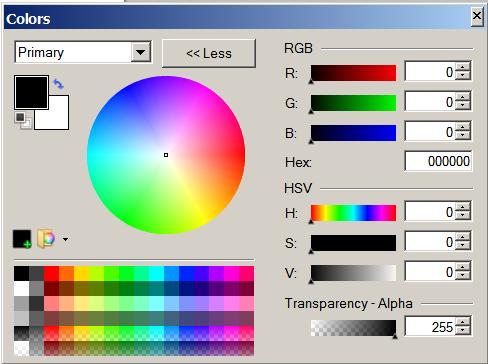 The Paint.NET color picker