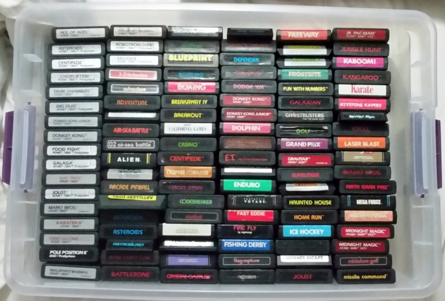 Atari games in 6 rows of 17, for a total of 102, fit efficiently in the bin