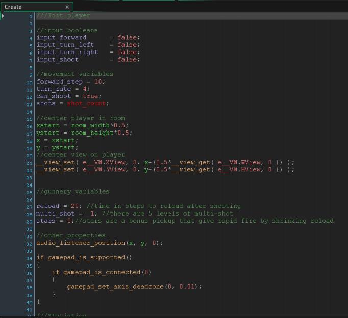 GMS2 Code Editor