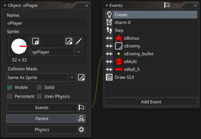 GMS2 Object Editor