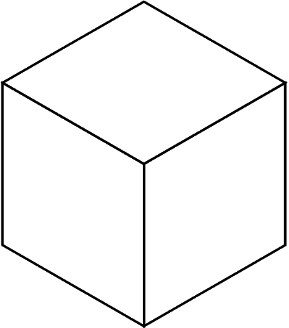 Cube with occluded faces