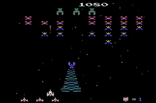 Galaga fighter capture