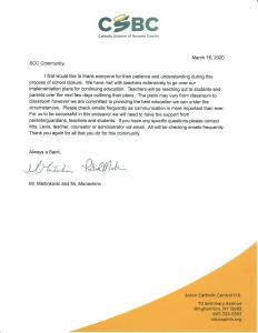 Letter from Principal March 16 232x300 - Letters from Dr. Carter and Mr. Martinkovic