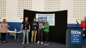 Seton 1st place 300x169 - Seton placed 1st, 2nd, and 3rd at High School Engineering Day at BOCES