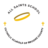 all saints school catholic school broome county logo - About