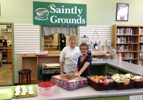 saintly grounds cafe seton catholic central high school - Saintly Grounds Cafe