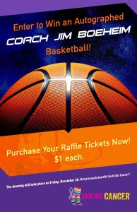sock out cancer autographed basketball 2019 194x300 - SCC Newsletter November 15th 2019