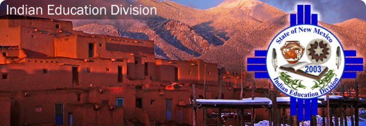 New Mexico Skyline with logo for State of New Mexico Indian Education Division