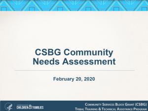 Screenshot of CSBG CNA webinar