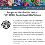 Postponed FY21 CSBG Application FAQs Webinar