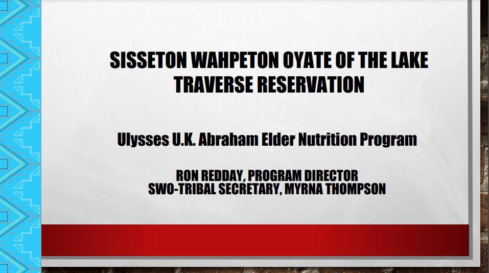 Sisseton Wahpeton Oyate of the Lake Traverse Reservation Slide Cover Image