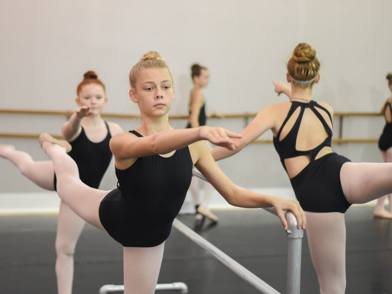 Ballet Class at Columbia Missouri Summer Ballet Intensive