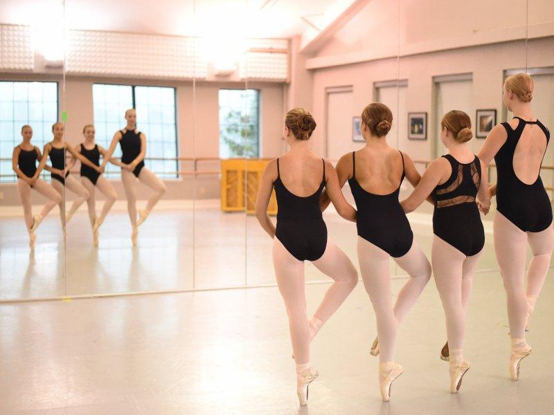 Ballet students in Coup De Pieds