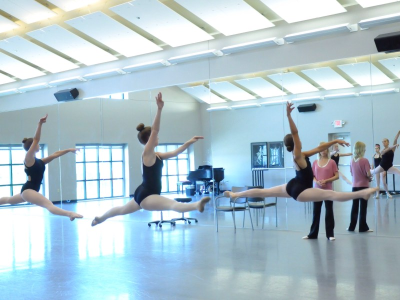 Ballet Intensive students doing Saute de Chat