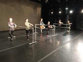 Theater Students Ballet Class