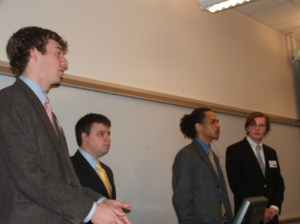 The SLogo team presented their application in the morning.